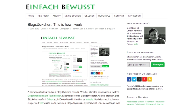 Blogstöckchen: This is how I work